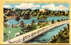 Florida Jacksonville Confederate Park With Scottish Rite Temple and Confedera...