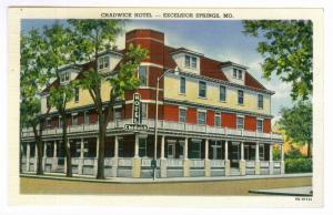 Excelsior Springs, Missouri to Ashland, Wisconsin 1956 Postcard, Chadwick Hotel