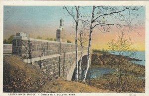 DULUTH , Minnesota, 1900-10s ; Lester River Bridge, Highway No. 1