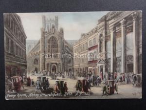 Somerset: Bath, Pump Rooms, Abbey Churchyard A.D.1825 by William & Co of Bath