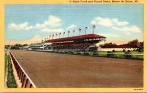 Maryland Havre de Grace Race Track and Grand Stand Curteich