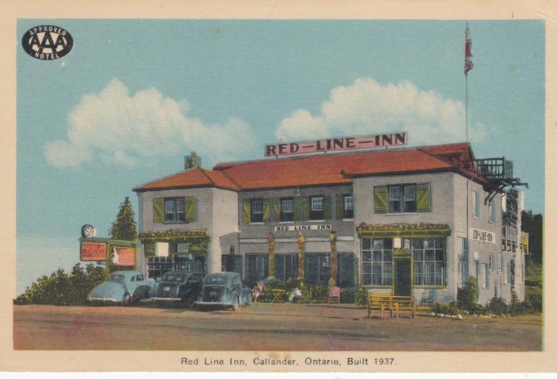 CALLANDER, Ontario, Canada, 1930s; Red Line Inn