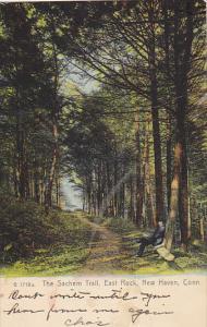 The Sachem Trail East Rock New Haven Connecticut Rotograph 1909
