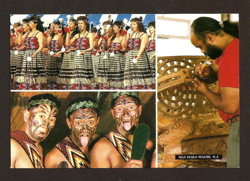 NEW ZEALAND  POSTCARD NGA HAGA MAORI