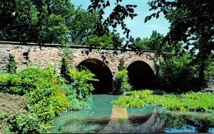 Virginia Manassas Old Stone Bridge Over Bull Run Manassas National Battlefiel...