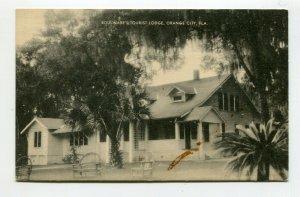Vintage Postcard ORANGE CITY FL Boulwares Tourist Lodge hotel