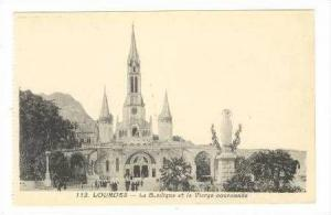 La Basilique Et La Vierge Couronnee, Lourdes, France, 00-10s