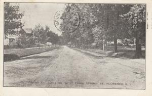 FLORENCE, New Jersey, PU-1909; Front St., looking West from Spring St.
