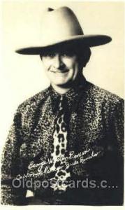 George Weston Western Cowboy, Cowgirl Postcard Postcards  George Weston