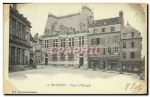 Old Postcard Bank Moulins Caisse d & # 39Epargne