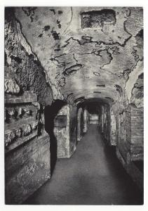 Italy Rome Catacomb di S. Domitilla Gallery Flaviens Vtg 4X6 Postcard