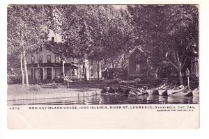 New Hay Island House, St Lawrence River. Gananoque, Ontario, Illustrated Post...