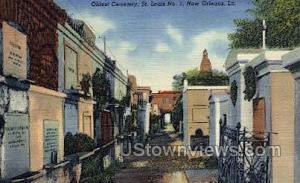 Oldest cemetary st Louis  New Orleans LA Unused