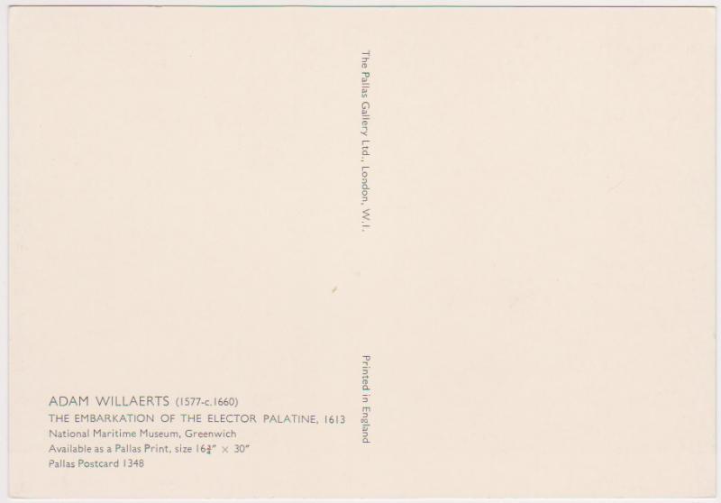 EMBARKATION OF ELECTOR PALATINE - ADAM WILLAERTS