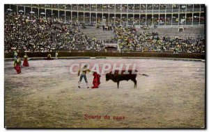 Old Postcard Sport Spain Bullfight Toro Taurus Suerte de capa