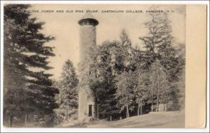 Tower & Old Pine Stump, Dartmouth College, Hanover NH