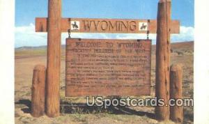Greetings from, WY Postcard       ;      Greetings from, Wyoming Post Card