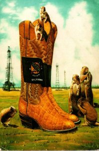 Oklahoma Oil Wells Cowboy Boots and Prairie Dogs 1983