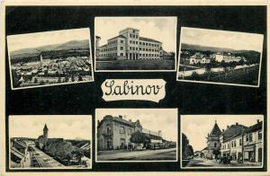 Slovakia Sabinov multi views postcard historical Hungary