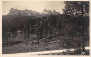 Cortina Italy Cinque Torri Real Photo Antique Postcard J39868