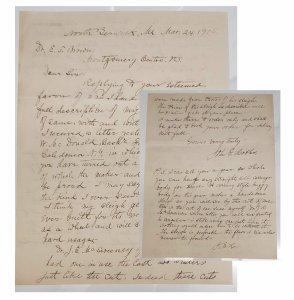1.John E. Hobbs Letter – Hobbs,  sleigh runner inventor