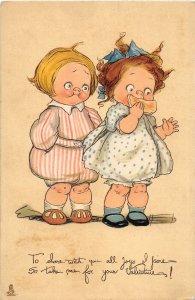 G22/ Valentine's Day Love Holiday Postcard c1910 Tuck & Sons Kids 8