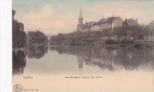 Belgium Ixelles Les etangs et l'eglise Ste Croix