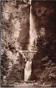 Multnomah Falls Oregon OR Cross & Dimmitt Unused RPPC Postcard E25 *As Is