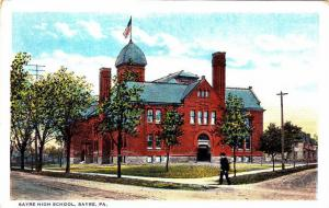 Exterior, Sayre High School, Sayre,Pennsylvania,00-10s