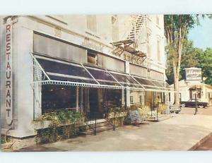 Unused Pre-1980 RESTAURANT SCENE Cooperstown New York NY F7907