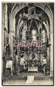 Old Postcard Lourdes Basilica Interior