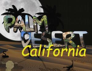 Set of 6 Handmade Postcards, Greetings from Palm Desert California Big Letter