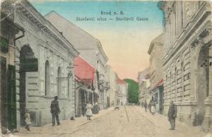 Bosnia Herzegovina Bosanski Brod Starcevic animated street