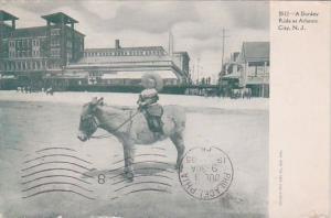New Jersey Atlantic CityA Donkey Ride At Atlantic At Atlantic City 1905
