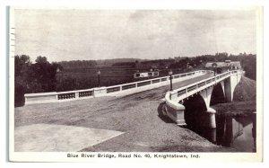 Blue River Bridge, Road No. 40, Knightstown, IN Postcard *6E(3)13