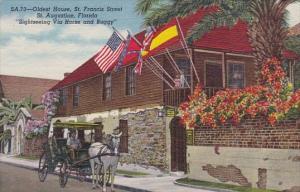 Florida Saint Augustine Oldest House Saint Francis Street Sightseeing Via Hor...
