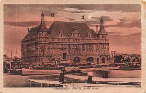 Turkey Constantinople, Gare de Haidar-Pacha, Ship, Moonlight
