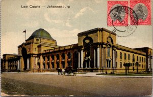 Johannesburg South Africa Law Courts Postcard used 1928