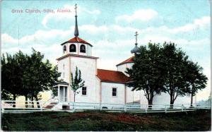 SITKA, AK Alaska    GREEK  CHURCH    c1910s     Postcard