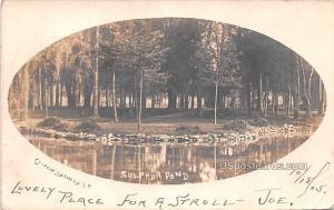 Sulphur Pond Clifton Springs NY 1905