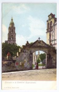 Mexico Postcard Entrada Catedral Cuernavaca ca 1907 Hatton