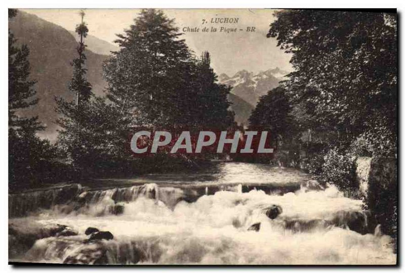 Old Postcard Luchon drop Pike