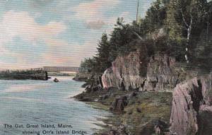 Orr's Island Bridge , The Gut , GREAT ISLAND , Maine ; 00s-10s