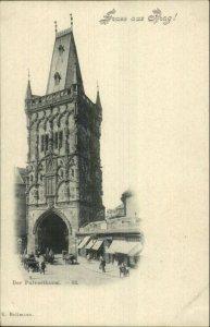 Gruss Aus Prag Prague Czech c1900 Postcard DER PULVERTHURM