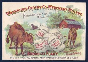 VICTORIAN TRADE CARD Washburn Crosby Co-Merchant Millers