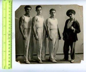 230376 USSR LENINGRAD Circus Ciniselli acrobats 1920-years