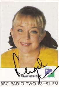 Sarah Kennedy Radio 2 Show Hand Signed Cast Card Photo