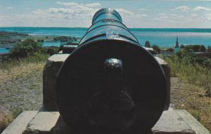 Cannon, View overlooking Bay of Quinte, Mt. Pelion, TRENTON, Ontario, Canada,...
