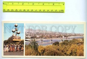 228812 Tajikistan Leninabad Khujand bridge across the Syr Darya old postcard