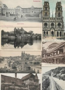 France Orléans Commercy Evian Les Bains And More Postcard Lot of 20 01.02